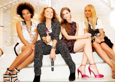 Solange Knowles, Diane von Furstenberg, Allison Williams, Meredith Melling Burke]  [Solange Knowles, Diane von Furstenberg, Allison Williams, Meredith Melling Burke